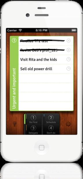 EISENHOWER für iOS: Mobiles Zeitmanagement mit der Eisenhower-Matrix