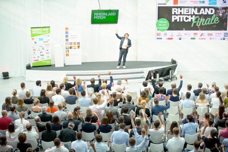 Volles Haus im Düsseldorfer Flughafen beim diesjährigen Rheinland-Pitch Sommerfinale.